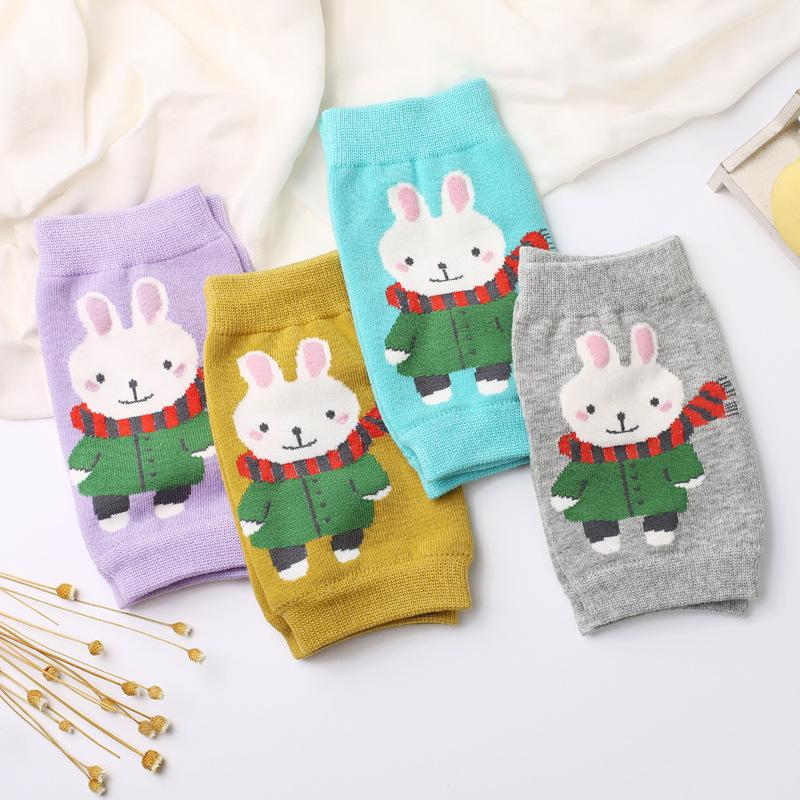 Baby Cute Cartoon Rabbit Safety Soft Crawling Knee Protector Leg Warmers Socks
