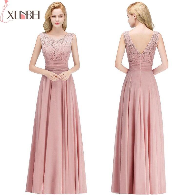Robe Demoiselle D'honneur A Line Burgundy Lace Bridesmaid Dresses Long Chiffon Prom Dresses Wedding Party Gowns