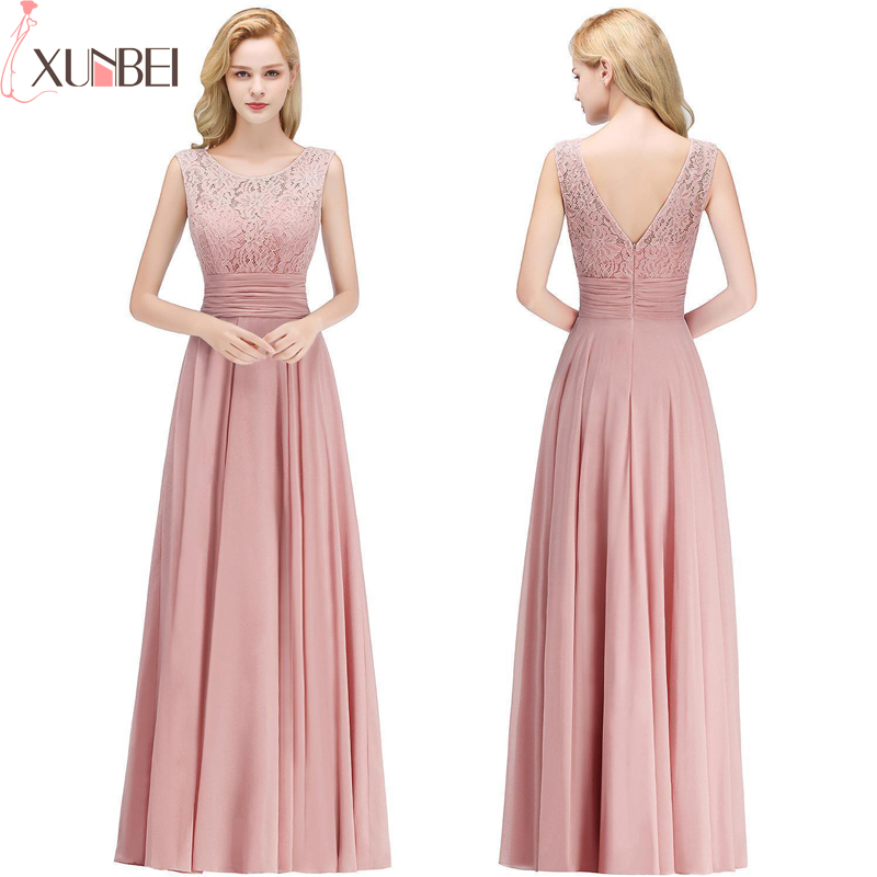 Robe demoiselle d'honneur A Line Burgundy Lace   Bridesmaid     Dresses   Long 2019 Chiffon Prom   Dresses   Wedding Party Gowns