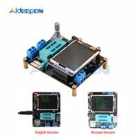 Gm328a gm328b transistor tester lcr diodo capacitância esr medidor de freqüência tensão pwm inglês versão russa kit diy|Medidores de capacitância| |  -