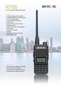 Image 2 - Retevis RT85 Analog Walkie Talkie 5W UV Dual Band Handheld Two Way Radio with Screen Keyboard VOX FM Radio Portable Transceiver