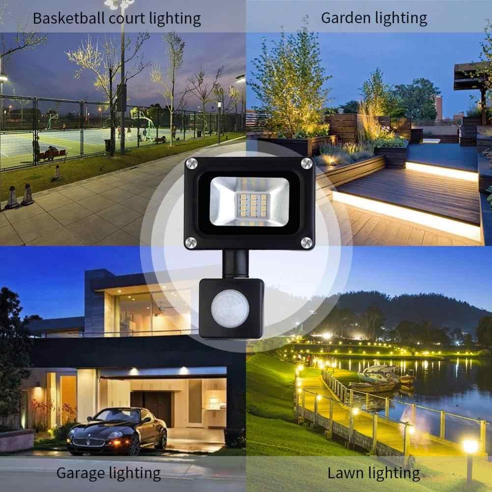 10W LED Luz de inundación Sensor PIR luz Led Foco Exterior Reflector 800LM iluminación para jardines patios cubiertas luces