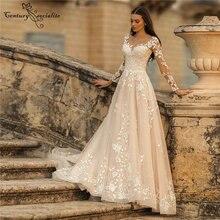 Блестящий богемное свадебное платье для невесты 2020 с длинным