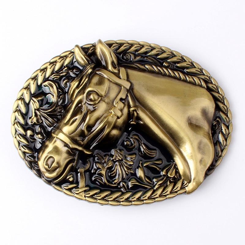 Men/'s Vintage Rronze Western Cowboy Cross Horse Rider Belt Buckle 11x8.2cm