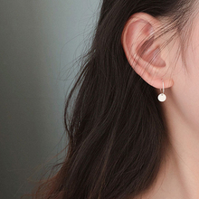 Wafer S925 silver circle earrings new contracted fashion earrings with ear ring Zheng Chunhua a undertakes