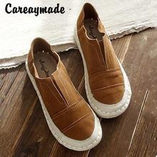 Новая обувь careaymade из натуральной кожи однотонные туфли