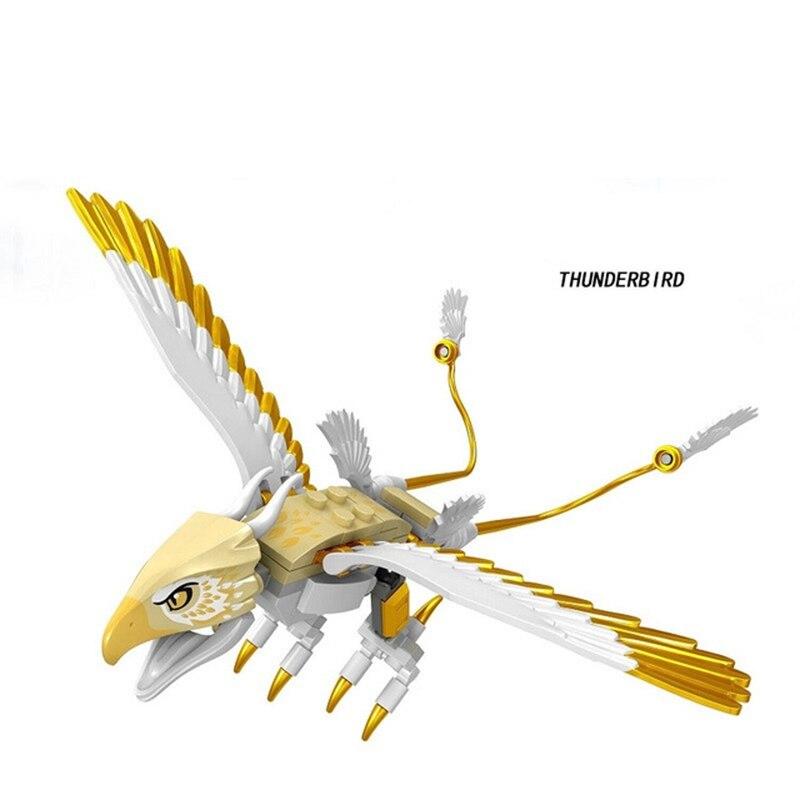 Single Legoings Building Blocks Fantasy Novel Harrys Thunderbird Aragog Hugarian Horntail Figures Bricks For Children Toys