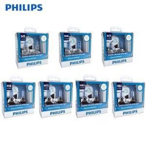 Philips Diamond Vision H1 H4 H7 H8 H11 9005 9006 HB3 HB4 12V DV 5000K Cool White Light Car Halogen Headlight Fog Lamp,2X
