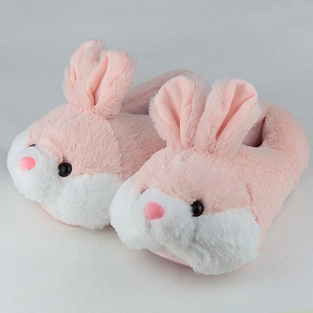 pantoufles lapin rose