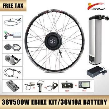 Kit de Motor de bicicleta eléctrica Con batería, 36V500W, pantalla LCD/LED, buje...