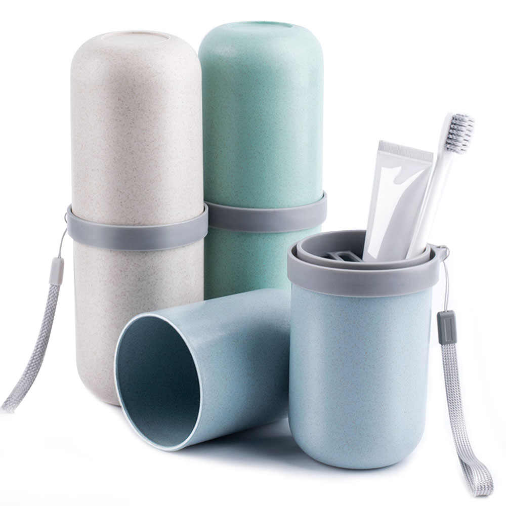 Travel Toothbrush Holder Toiletries Cup Toothbrush Cup Brush Teeth Cup Convenient travel Home Toothbrush Case