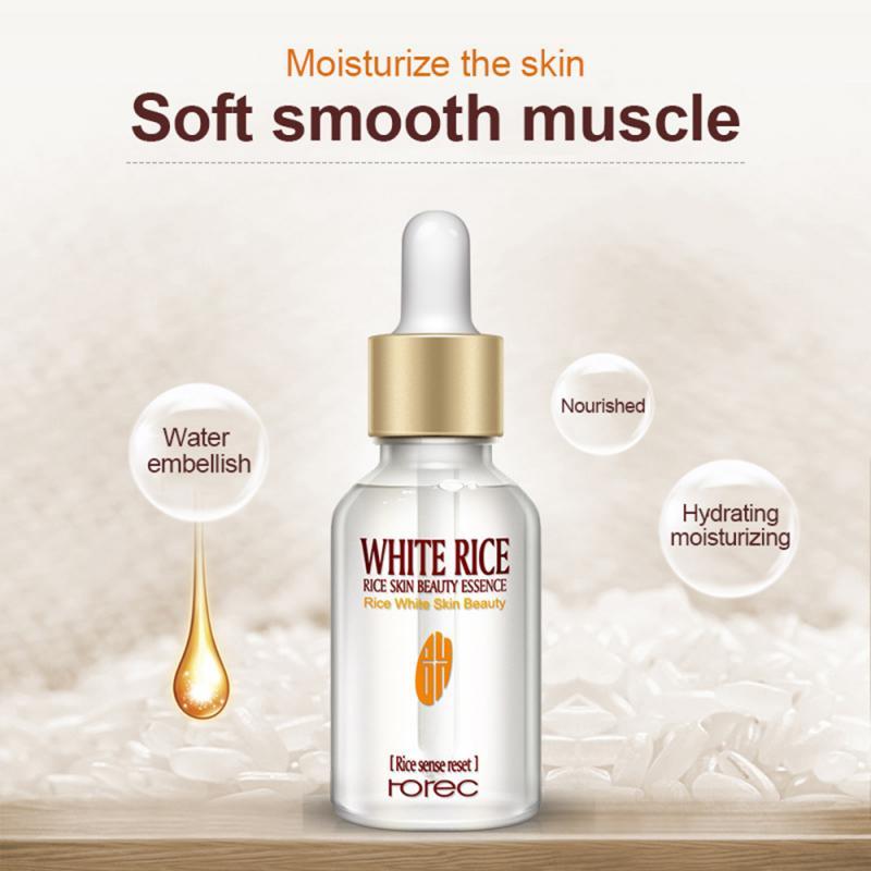 Чистый рисовые уход за кожей лица Сыворотки для питание отбеливание Сыворотки, увлажняющая, для лечения прыщей, против старения легко впиты...