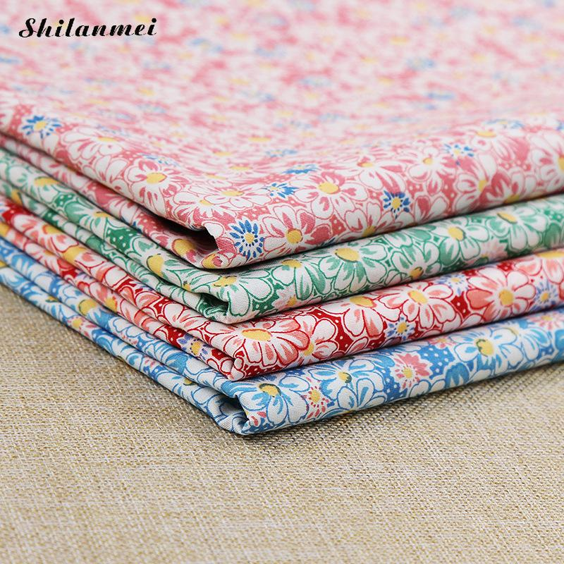 1.42m*2m Diy Printed Floral Cherry Blossoms Cotton Fabric Patchwork, Sewing Tissue Telas Patchwork Tilda Needlework Sewing Cloth