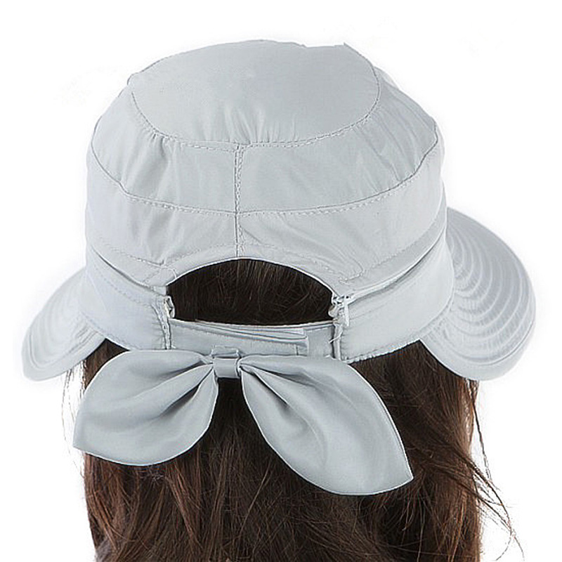 Summer Fashion Korean Style Bowknot Big Visor Cap Color Matching Beach Sun Hat SER88