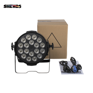 Image 4 - SHEHDS Aluminium Legierung LED Par 18x18 6in1 RGBWA + UV Beleuchtung In Alluminio DMX 512 Bühne Licht Undurchlässig IP20 Dj Di Illuminazione