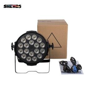 Image 4 - Shehds アルミ合金 led パー 18 × 18 6in1 rgbwa + uv 照明 alluminio dmx 512 ステージライトで不浸透性 IP20 dj ディ illuminazione