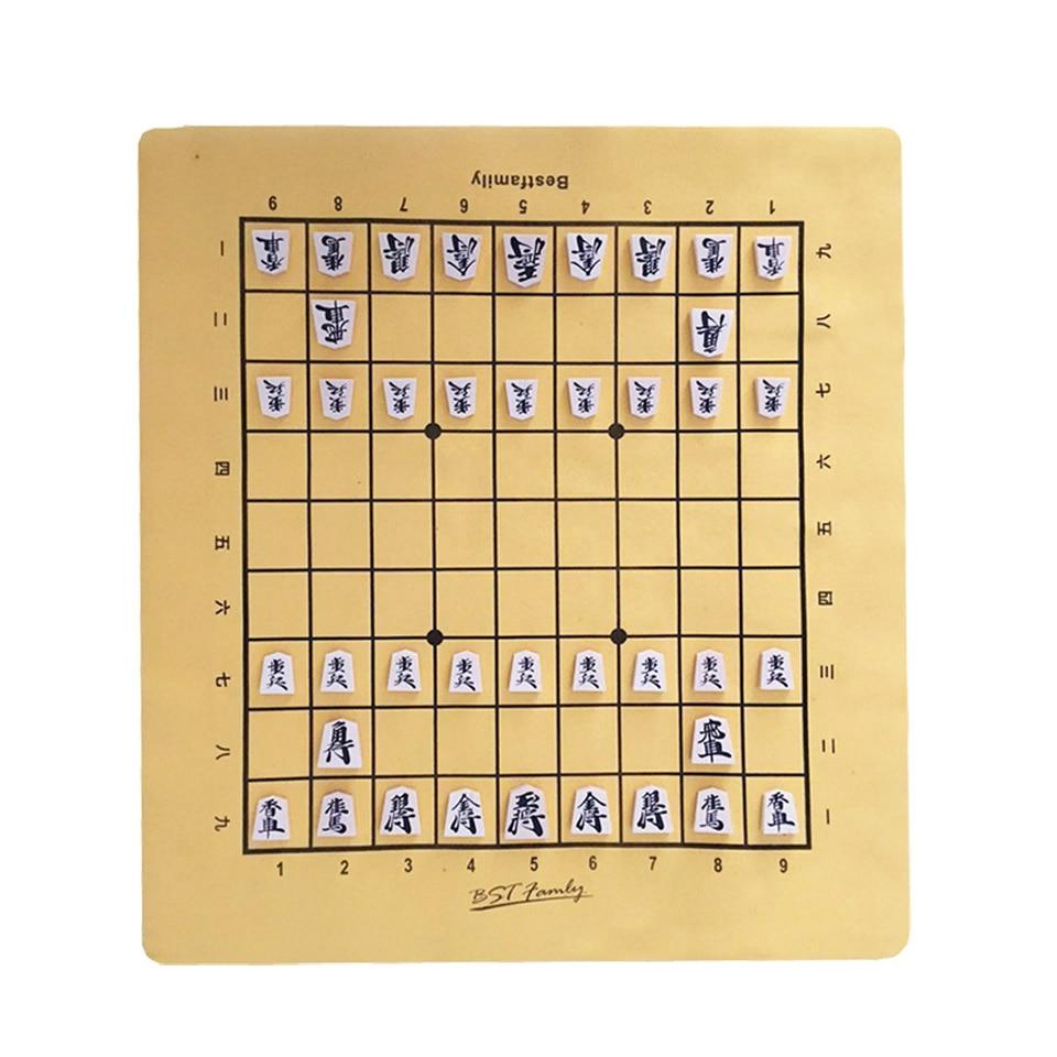 BSTFAMLY-Wooden-Japan-Shogi-40-Pcs-Set-International-Checkers-Folding-PU-Leather-Chessboard-Sho-gi-Chess (1)