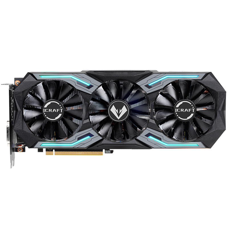 MAXSUN GeForce RTX 2060 ICraft  6GB 192-Bit GDDR6 Graphics Cards PCI Express 3.0 X16 DP HDMI DVI HDCP Ready Video Card