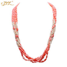 Элегантное ожерелье jyx из 5 нитей с натуральным пресноводным