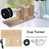 Turner Cup Rotating Machine Metal Frame Turner With Balance Steering Shaft US Plug Diy Craft Cup Turner