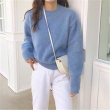Rugod 2020 Новое поступление однотонный свободный Женский пуловер