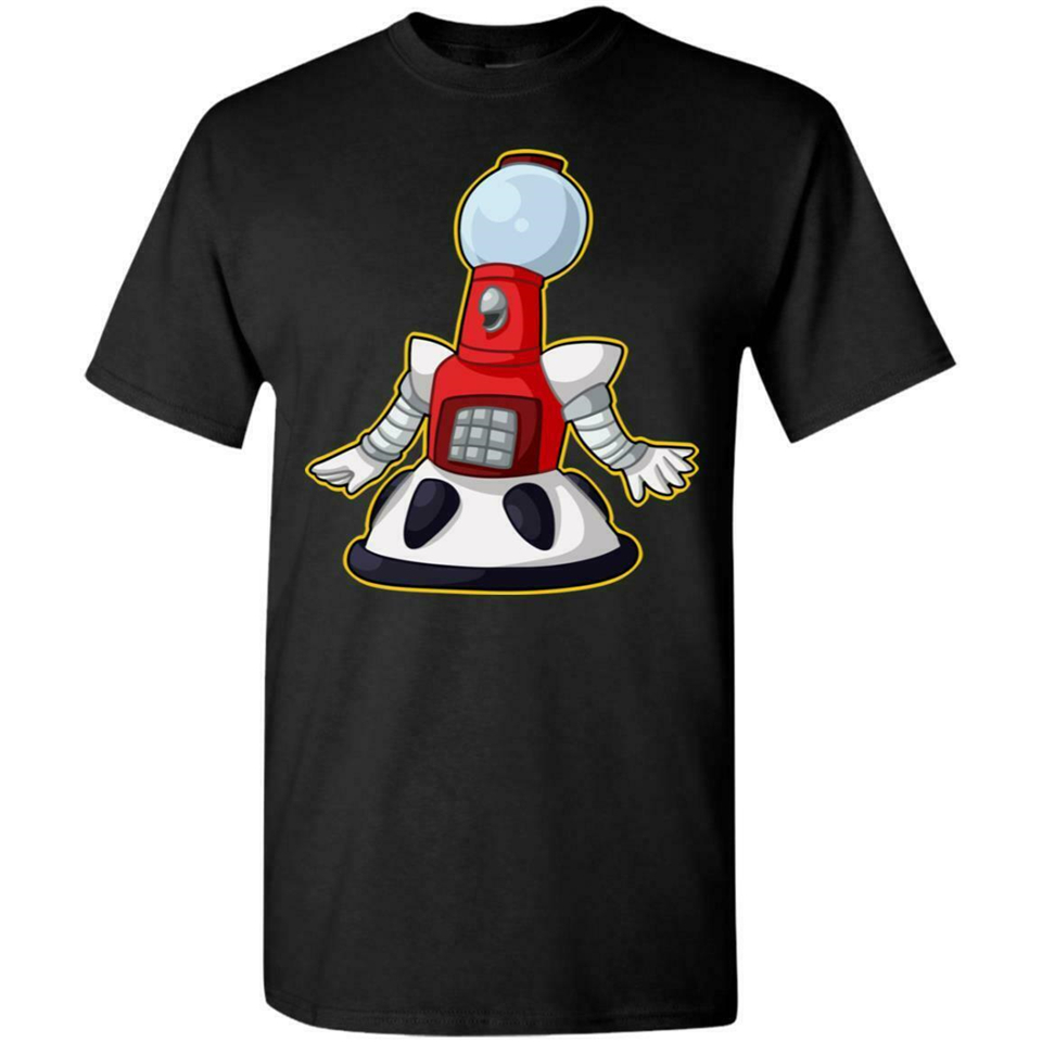 Tom Servo Mystery Science Theater 3000 Funny Black T-Shirt Joel Robinson S-3Xl Loose Size Tee Shirt image