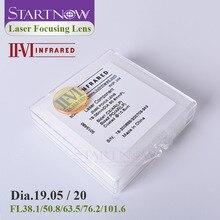 II VI инфракрасная Фокусирующая линза CVD ZnSe лазерный диам. 19 мм 20 F101.6 38,1 50,8 63,5 76,2 для CO2 лазерной резки запасные части