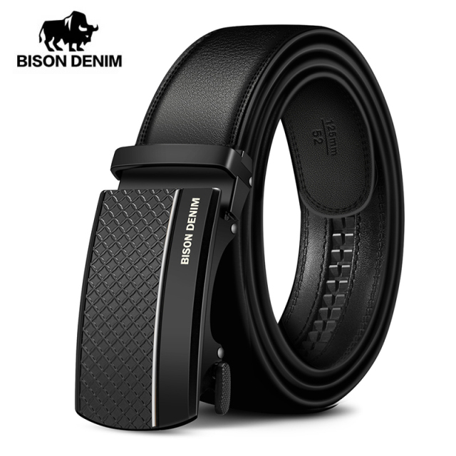 BISON DENIM Genuine Leather Automatic Men Belt Luxury Strap Belt for Men Designer Belts Men High Quality Fashion Belt N71416 2