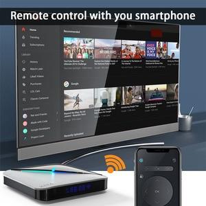 Image 3 - A95X Air RGB lumière Android 10.0 TV BOX 8K 4K Youtube Amlogic S905X3 wifi 2GB 4GB 16GB 32GB 64GB très rapide ensemble décodeur TV