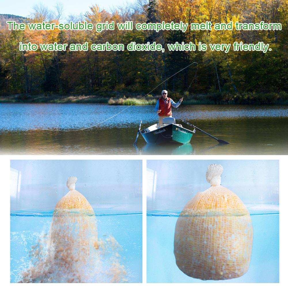 5m pva water soluble fishing network refill stocking bait bag protect fish net X