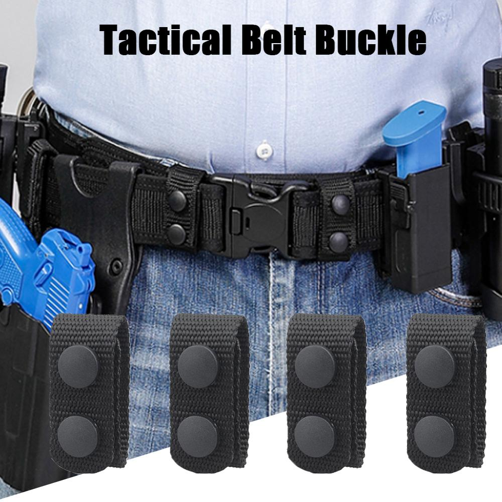 4Pcs Tactical Belt Buckle Heavy Duty Belt Keeper Portatile Nastri E Fettucce Cinghia Militare Cintura di Attrezzature, Accessori per gli Sport All'aria Aperta