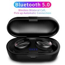 CBAOOO auriculares TWS, inalámbricos por Bluetooth 5,0, auriculares de graves estéreo para música deportiva con micrófono para teléfono