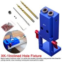 Mini Locator Set Jig Kit 6/8/10mm Angle Drill Guide Set Hole Puncher Locator Jig Drill Bit Set For DIY Carpentry Tools
