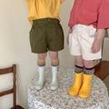 2021 летние новые детские шорты MILANCEL, однотонные хлопковые короткие брюки с эластичным поясом, простая одежда для мальчиков и девочек