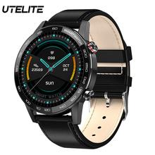 UTELITE L16 inteligentny zegarek 360*360 wyświetlacz HD IP68 wodoodporna muzyka Bluetooth sterowania Sport zegarek 24h-tętno zespół PK DT78 L13 tanie tanio CN (pochodzenie) Brak Na nadgarstku Wszystko kompatybilny 128MB Passometer Fitness tracker Uśpienia tracker Wiadomość przypomnienie
