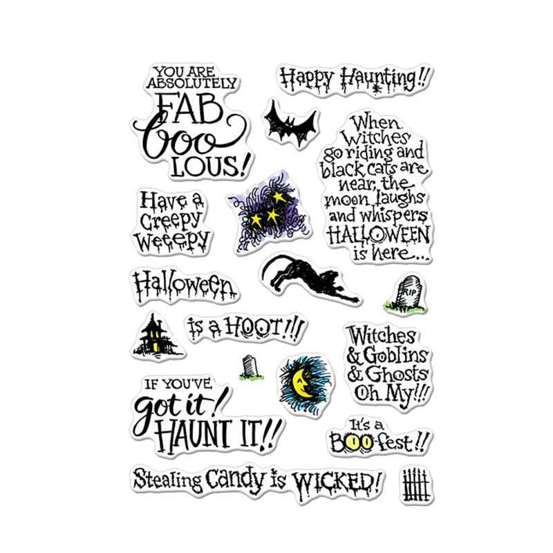 Halloween Phrases.Halloween Phrases Clear Stamps Halloween Phrases Ornaments For Diy Card Making Kids Transparent Silicone Stamp New 2019 Cutting Dies Aliexpress