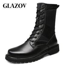 Rozmiar 37 ~ 50 Vintage Style mężczyźni buty skóra naturalna jesienne i zimowe buty wodoodporne obuwie robocze i ochronne męskie jakości botki