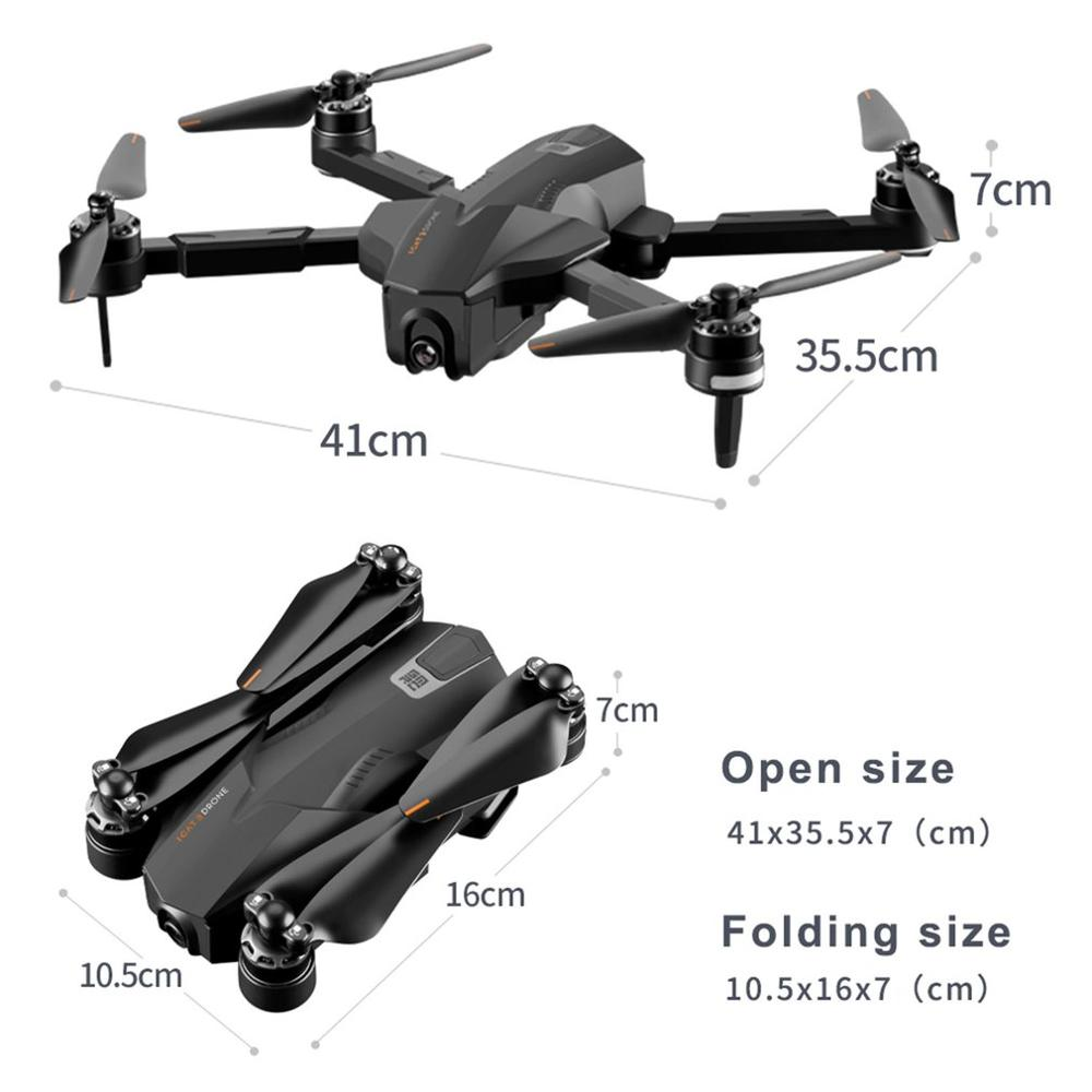 Best GPS 5G WiFi FPV with 4K Camera Optical Flow Switchable Remote Brushless Foldable RC Drone Quadcopter RTF Smart return Drone (With bag)