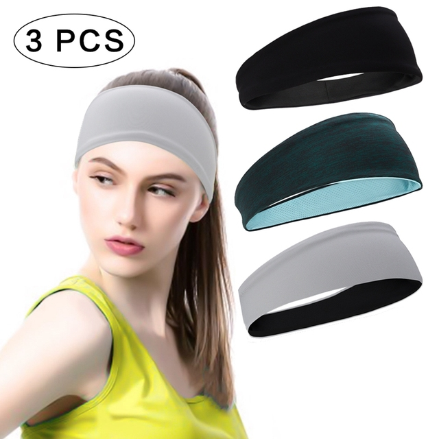 Sports Headband Men'S Hair Band Sweat Belt  Fitness Sweat-Absorbent Turban Yoga Running Hair Band 2