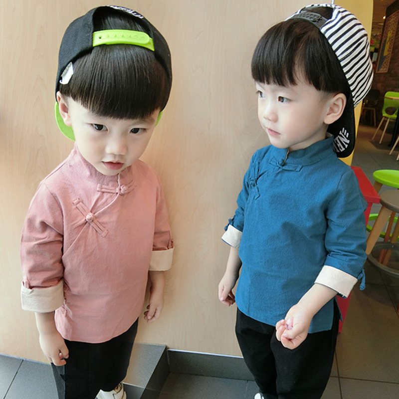 2019 Spring Clothing Childrenswear Women's Children Retro China Ethnic-Style Tops Baby Chinese Costume Girls Chinese Clothing Ch