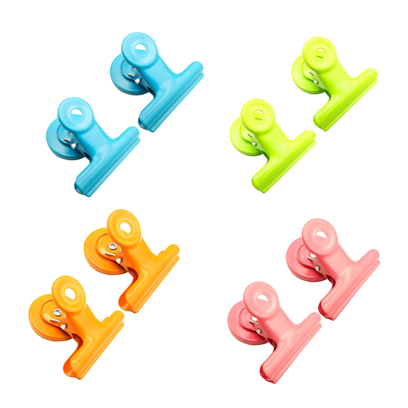 8Pcs Magnetic Metal Clips Colored Magnets Clips Perfect Fridge Magnets Kitchen Magnets Whiteboard Magnets For Home School, Class