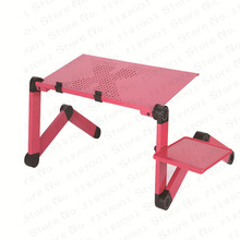 Portable Aluminum Laptop Desk Ergonomic Computer Desk Adjustable TV Bed Lapdesk Tray PC Table Stand Notebook Table Desk Stand