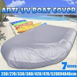 7 Размер, крышка для лодки, водонепроницаемая, сверхмощная, морская, Пыленепроницаемая, анти-УФ, надувная лодка, понтон, лодка, рыбалка, каяк, ...
