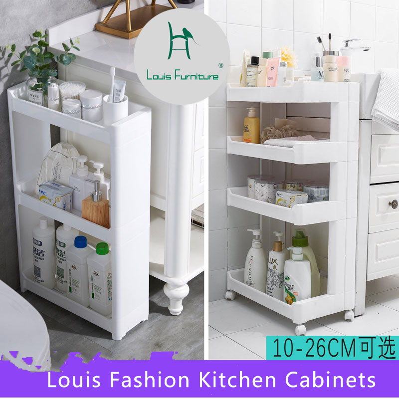 US $16.91 11% OFF|Louis Fashion Bathroom Vanities Kitchen Cabinets crevice,  plastic toilet, movable refrigerator, narrow gap, wheel clip on AliExpress