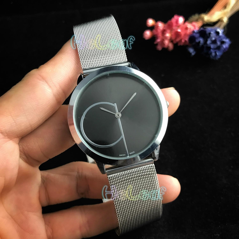 NEW Luxury Fashion Men Women Watches Silver Gold Round Stainless Steel Brand Quartz Watch Female Clock Montre Femme Relogio