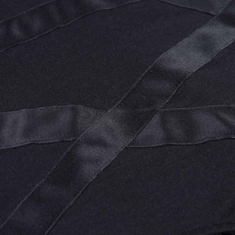 Готический панк Женская Черная футболка с длинными рукавами с круглым вырезом тонкие полые Топы Женская модная повседневная одежда 2019 Лето Новинка