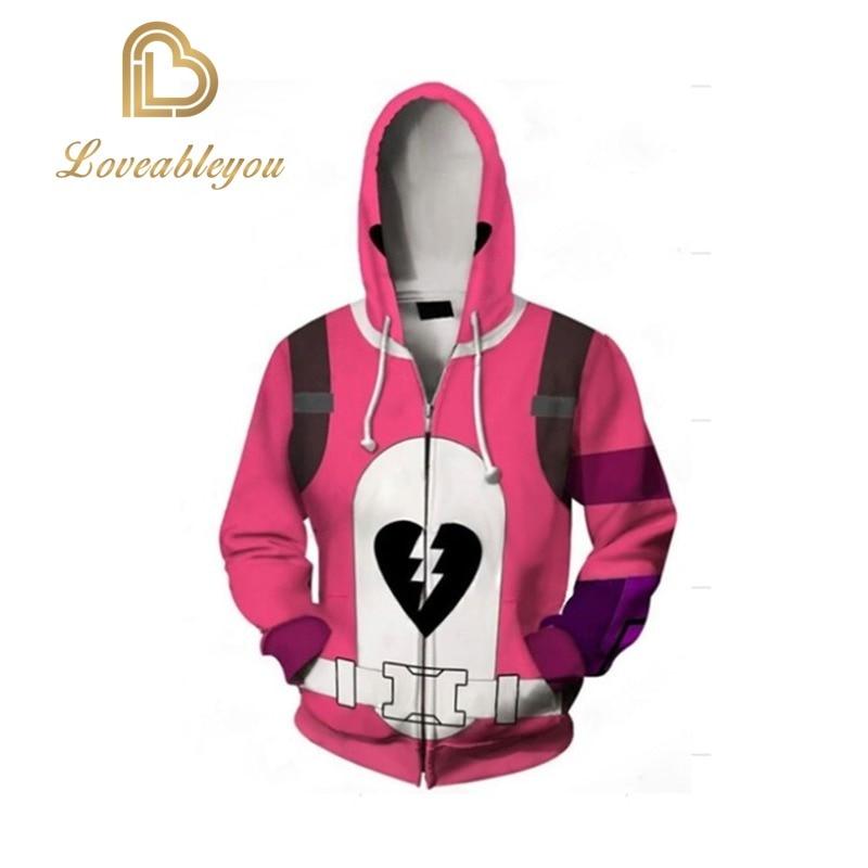 Pink Bear Costume Cosplay Cuddle Team Leader Sweatshirt Harror Halloween Costumes for Women Plus Size Hoodie Jacket 1