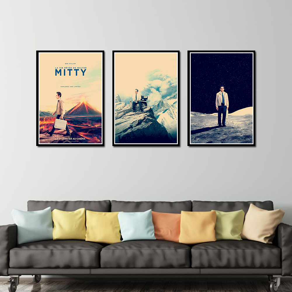 The Secret Life Of Walter Mitty Poster Decorative DIY Wall Canvas Sticker Home Bar Art Posters Decor