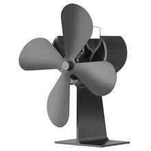 4 лопасти древесины нагреватель экологический вентилятор плита камин огонь тепло питание циркуляционный вентилятор