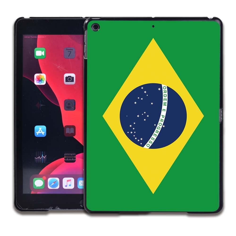 22.Brazil flag Black Tablet Hard Back for Apple IPad 8 2020 8th Gen 10 2 A2270 A2428 Z2429 Z2430